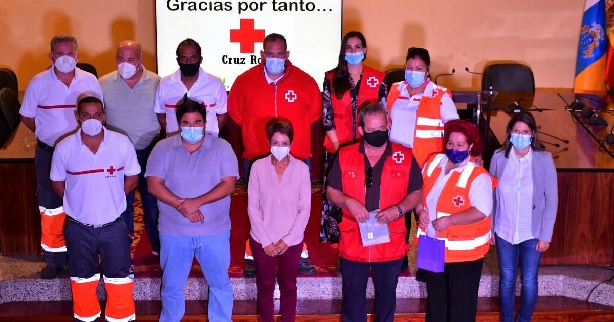 El Ayuntamiento de Mogán reconoce la labor de Cruz Roja en el municipio