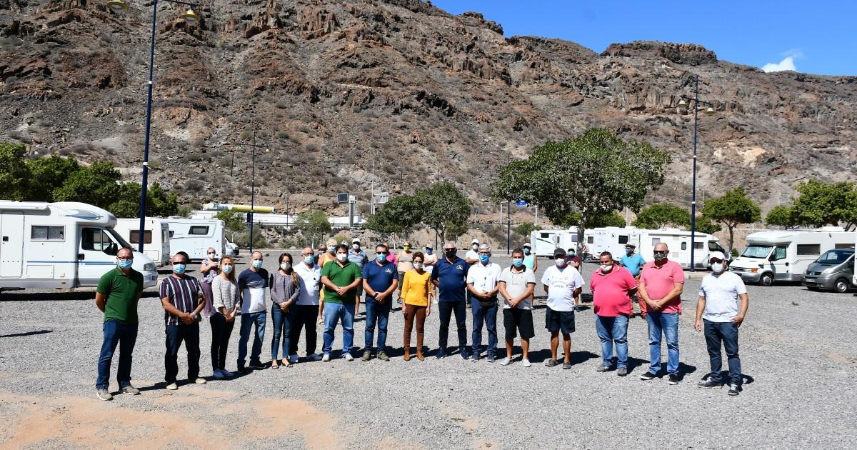 El Ayuntamiento de Mogán abre la primera área municipal para autocaravanas y cámpers homologados de Canarias