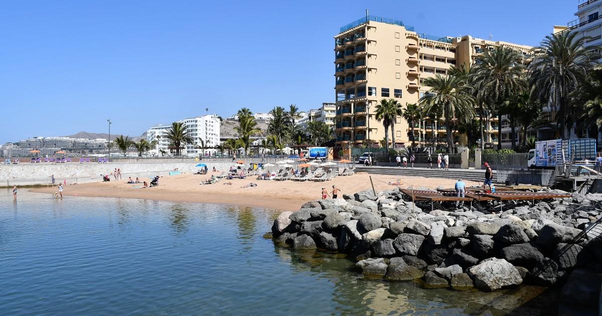 Se incrementa el área de solárium de la playa de La Lajilla en Arguineguín